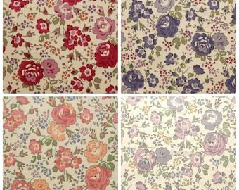 4 pcs of Liberty fabrics - Felicite - Printed in Japan - Original Liberty