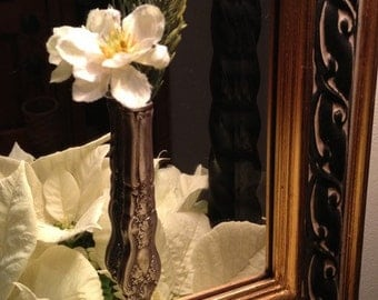 Bud Vase Silverware with Suction Cup For Window or Mirror