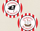 Pirate Party - Custom Stickers - Sheet of 12 or 24