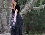 Stevie Nicks coat, Bohemian lace, Stevie Nicks duster, Romantic dress, Black Velvet coat,  Boho dresses, Shabby jacket, True rebel clothing