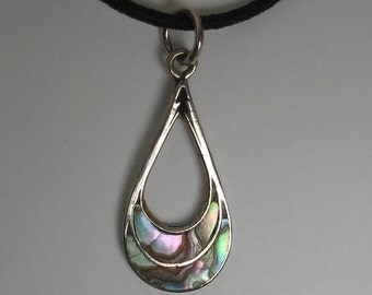 Sterling Silver and Abalone  Pendant