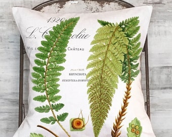Pillow Cover Green Botanical Fern