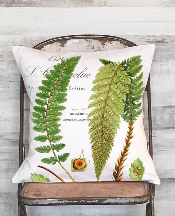 Pillow Cover Green Botanical Fern