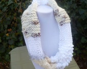 HandKnit Cowl scarf - Hand Knit infinity scarf- Hand Knit Chunky Scarf- Hand Knit Textured Scarf- Womans Scarf- scarve- scarves