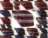 Vintage 1940s Tie Wholesale Bulk Lot of 36 Striped Rayon Ties Deadstock Never Worn