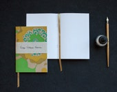 "Notebooks, Vintage Wallpaper (Bronze Flowers: Classic size 5x7"")"