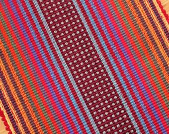 Red Rag Rug Primary Colors 2' x 3' Kitchen Rug Bathroom Rug