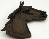 Westerm Americona decor Cast iron horse dish