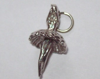 Ballerina Sterling Silver Charm Vintage 1970s