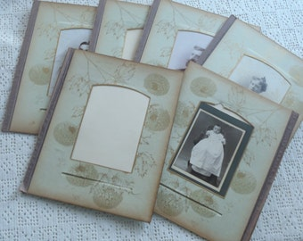 Vintage Victorian Album 9 Photographs 6 Pages