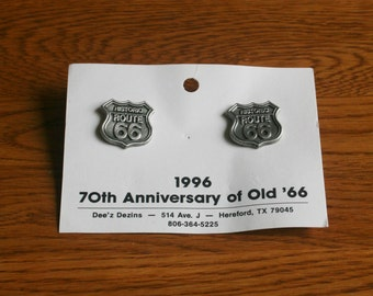 Vintage Historic Route 66 Post Earrings plus Free USA Shipping!