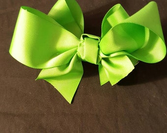 Boutique Custom Made Hairbow  to Match Any of My Custom Socks...You Choose Color