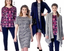 Unlined Jackets Pattern, Tapered Pants Pattern, Pullover Dress Pattern, McCall's Sewing Pattern 7204