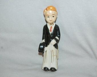 Vintage / Bisque / Ceramic / Wedding / Doll / Groom / Figurine / Frozen Charlotte /  Penny Doll /  Vintage Dolls
