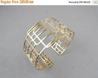 SALE up to 40% OFF square bracelet, geometric cuff, cuff bracelet , geometric cuff bracelet