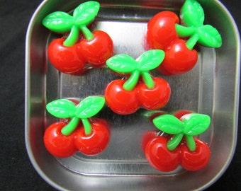 Fridge magnet set, cherry fridge magnets, food magnets, cute magnets, neodymium magnets, very strong magnets 522