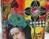 MESSY Art JOURNAL Mixed Media Art Journal, Blank Journal, CREATE, Love