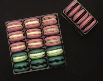 10 clear blister tray for macarons (packing 15 macarons)