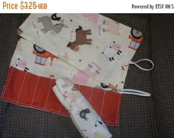 Sale Christmas in July Crayon rolls up cream farm corner