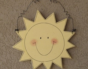 Hanging Sunshine sign for wall, door hanger, and  home decor