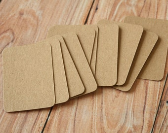 500pc Recycled Plain KRAFT Eco Series Business Card Blanks