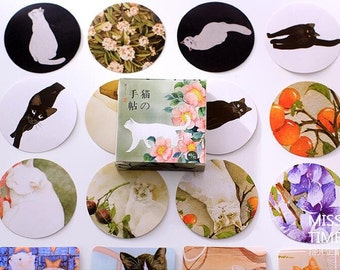 Miss Time Flower Cat Sealing Stickers