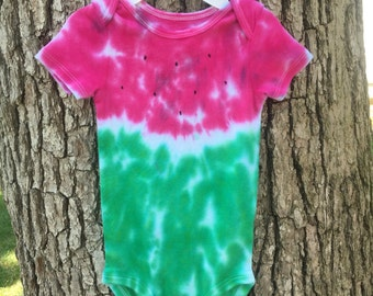 6-12 Tie dye watermelon onesie