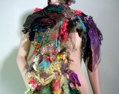 BOHO-CHIC SCARF - Signature Accessory, Wearable Fiber Art, Richly Embellished, Unsurpassed Quality Marerials