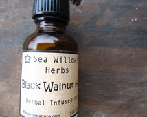 Black Walnut Hull Herbal Infused Oil - Juglans nigra - Wildcrafted and Organic - 1/2 oz