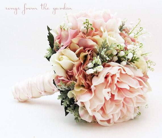 brautstrau maigl ckchen pfingstrosen rosen hortensie rosa und. Black Bedroom Furniture Sets. Home Design Ideas