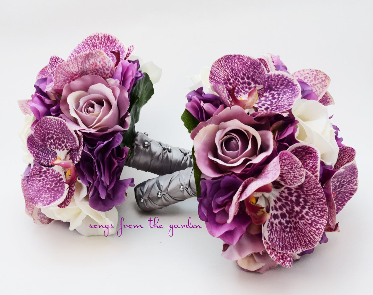 Orchids Roses Hydrangea Wedding Flower Package Bridesmaid