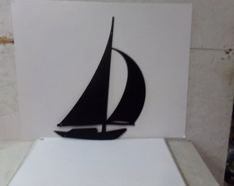 Sailboat 003 Medium Metal Ocean Wall Art Silhouette