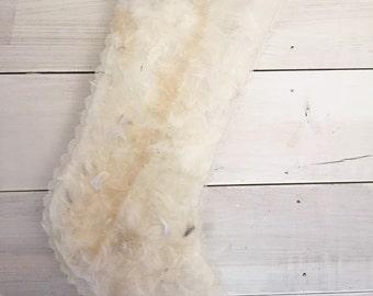 Christmas Vintage Tarlatan Stockings (feather filled)