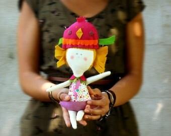 1 BIRD  handmade Doll - Wall hanging doll - KIDS decoration