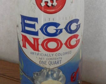 vintage A & P sterilized  Egg Nog tin unusual