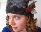 Handmade Recycled Wool Ladies Hat, handmade hat, recycled hat, eco