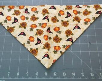 Dog Bandana Fall, Autumn, Harvest, Thanksgiving, Halloween, pumpkin, sunflower, crow