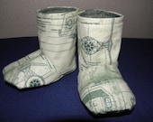 Star Wars Green Imperial Schematics Baby Boots 0-3 Months
