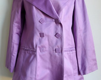 SALE Paco Rabanne lilac double breasted jacket with square buttons