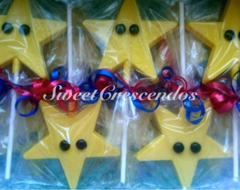 Super Mario Inspired Power Up STAR-  Hard Candy Favors- Super Mario Party Favors