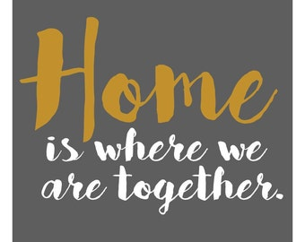 Home is Where... Home Decor Decal