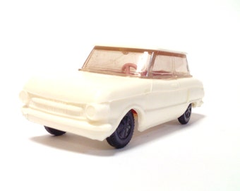 Soviet car model Zaz 966 toy white
