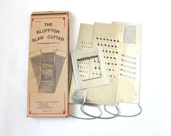 Bluffton Graters Complete Set in Box Made in USA
