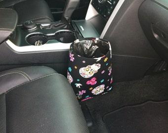 Car Trash Litter Bag Sugar Skulls