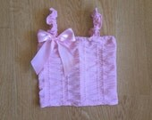Pink ruched tank top