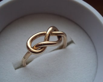 10kt gold, 16g, infinity ring, infinity knot ring, celtic love knot ring, engagement ring, wedding band, promise ring