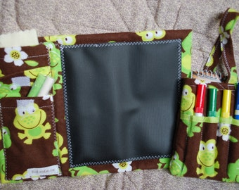 Two Piece Gift Set - Mini Chalkboard to Go and Little Author Tote - aloha frogs