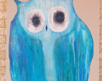 Serenity Owl 2 painting by Julie Sutherland
