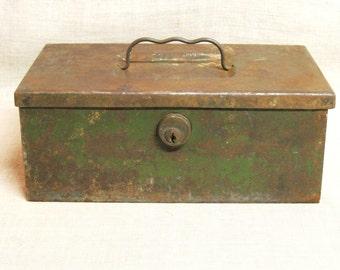 Cash Box , Metal Box , Heavy Duty , Storage Box , Tool Box , Studio Storage , Organization , Rustic , Tackle Box , Storage , Boxes , Green