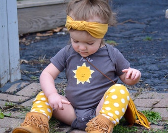 "Hand-sewn ""Hello Sunshine"" Baby Bodysuit, ""you are my sunshine, my only sunshine onesie"